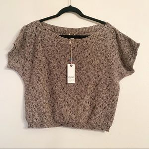 Dylan soft brown loose fit cropped sweater